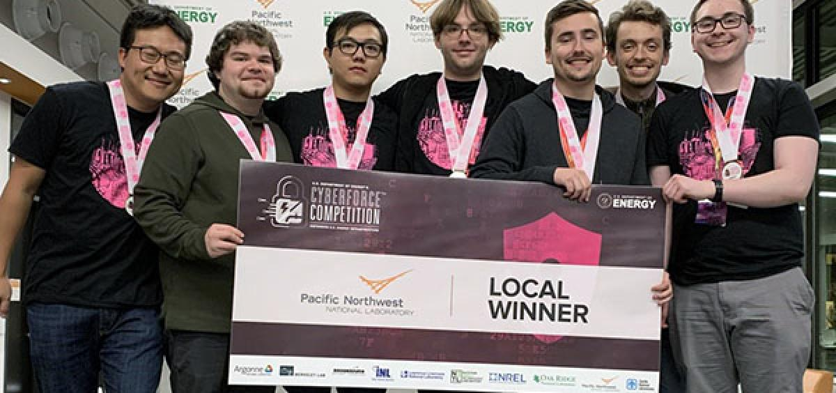 The winners of the regional CyberForce competition.