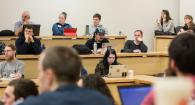 Attendees at a Seminar during BarCamp 17